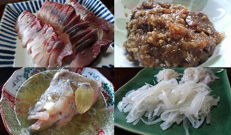 (6)仕事の後は、本物の今獲れ漁師料理!