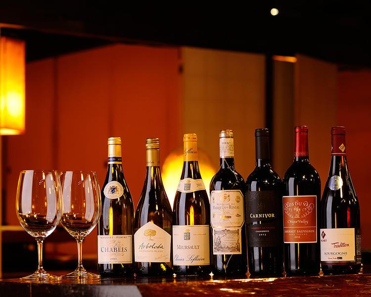 ワインを幅広くラインナップ