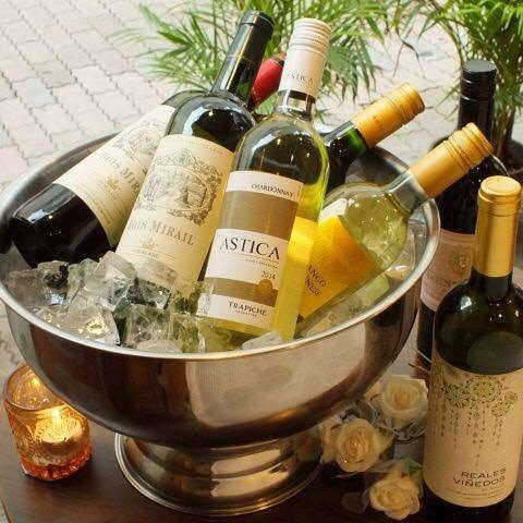 各国のワインが揃ってます!