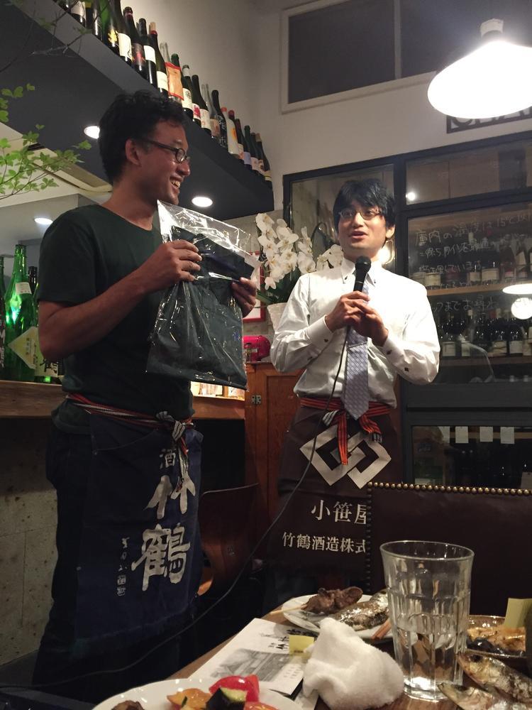 竹鶴酒造の敏夫社長と…