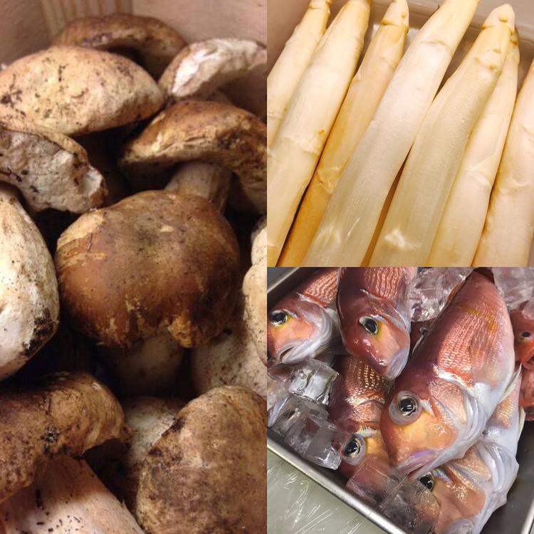 直送の鮮魚や旬のイタリア食材