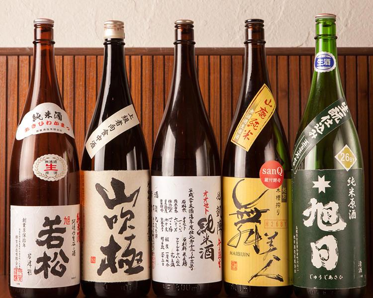 熟成酒・燗酒も多数取り扱い