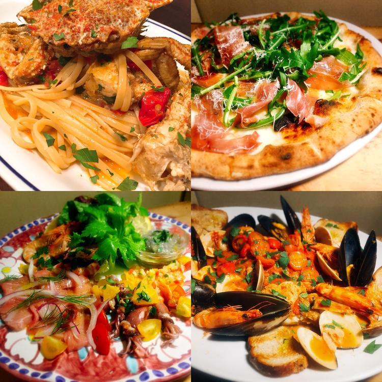 ナポリの心地よい風を感じる料理