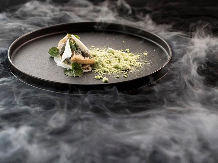 一色の鰻山椒パウダー豆乳ライスリゾット