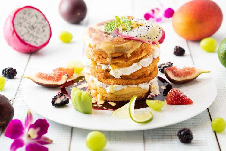 看板商品のパンケーキは大人気!