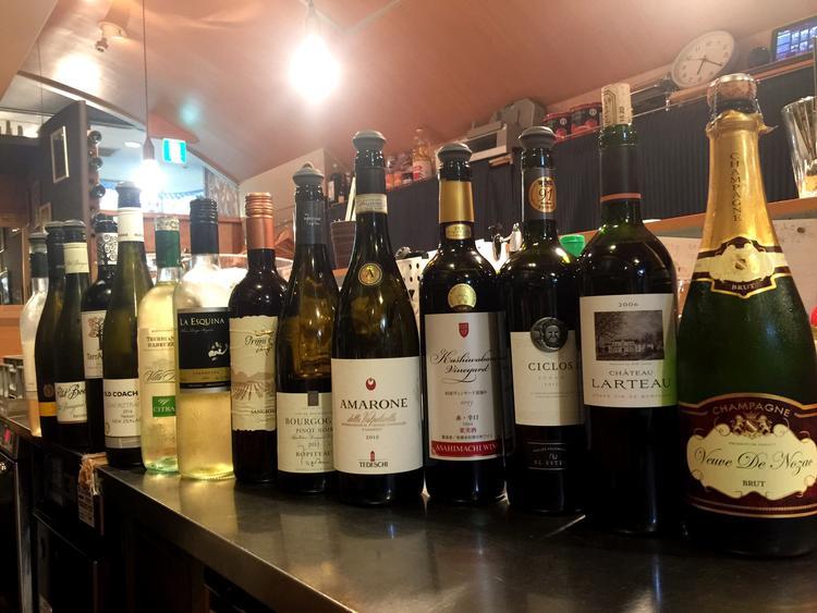 グラスワインは圧巻の18種類‼︎