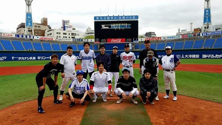 横浜スタジアムでの野球大会