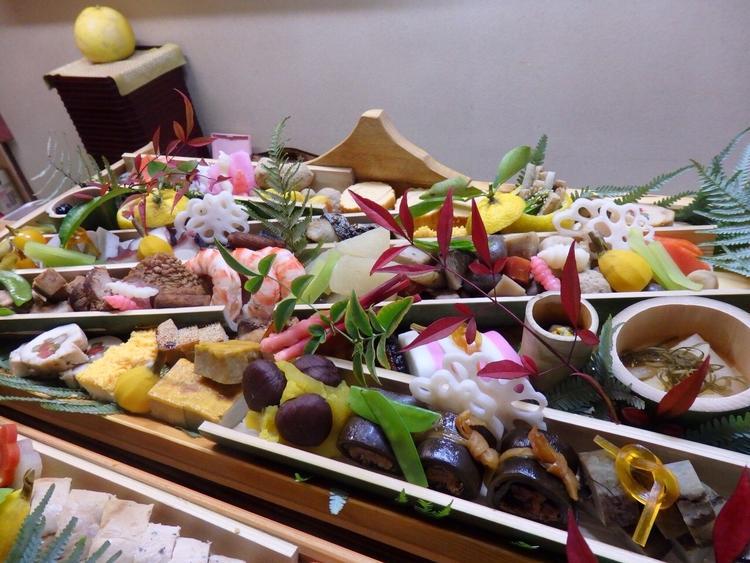 㐂想庵オリジナルのおせち料理。