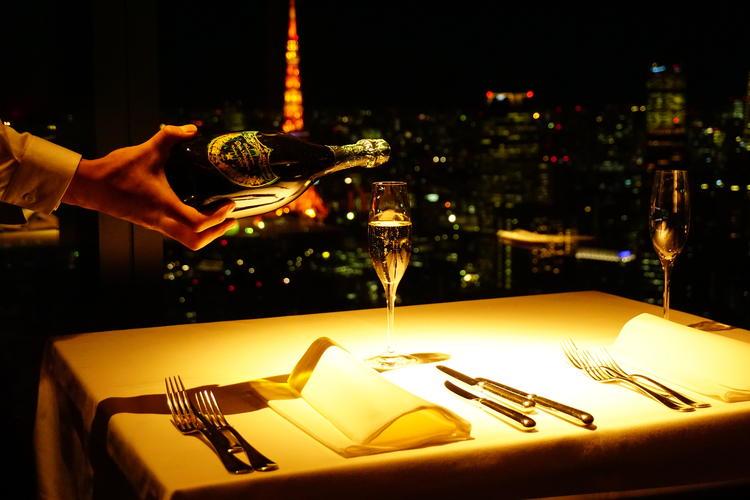 東京タワーを一望できる夜景が自慢