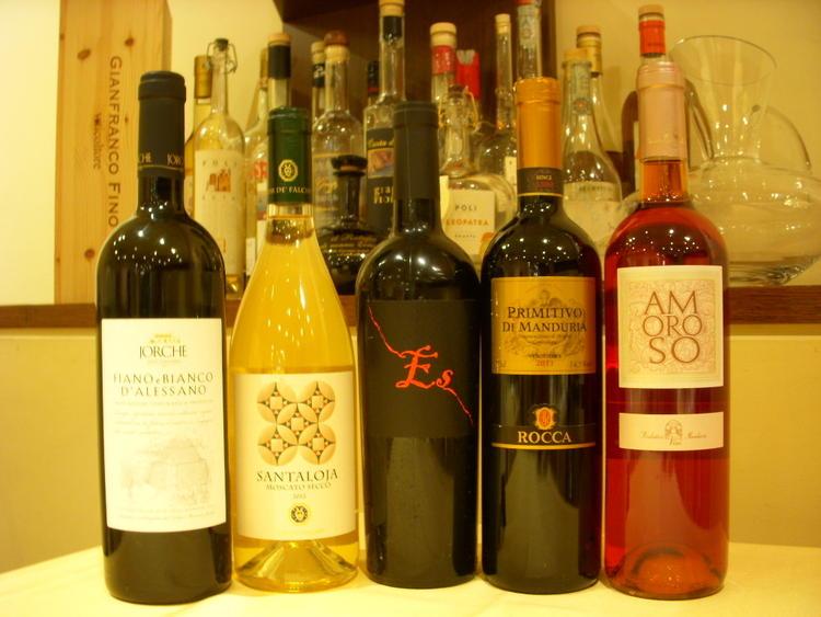 プーリア産ワインも充実!