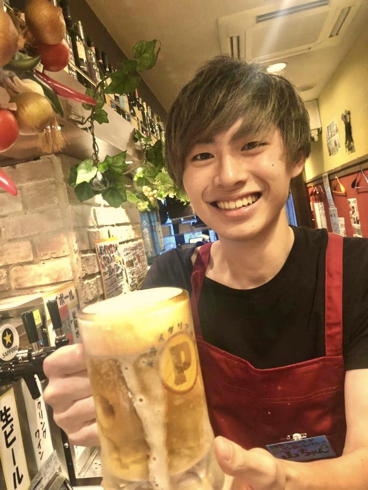 冷え冷えの生ビールをどうぞ!!