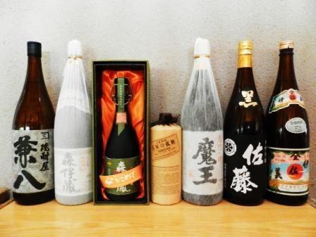 日本酒、焼酎など各種取り揃えています