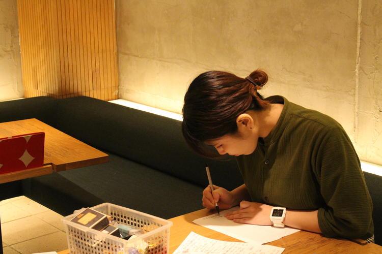 本日のおすすめメニューは毎日手書きで!