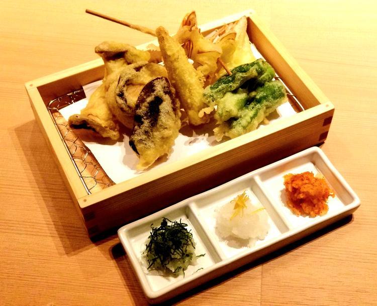 季節の天ぷら盛り合わせ