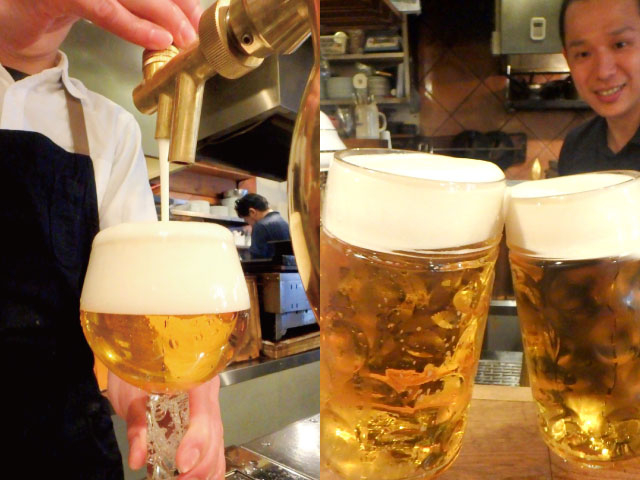 鮮度と注ぎ方にこだわる 樽生ビール☆