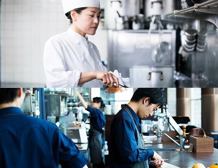 サービスとキッチン垣根なく働きやすい環境