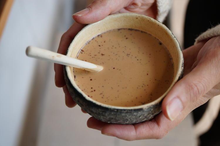 手作りのほうじ茶チャイ
