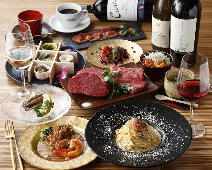 肉&ウニ料理