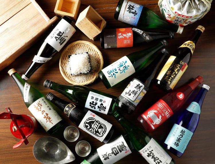 日本酒の品揃えは随一!