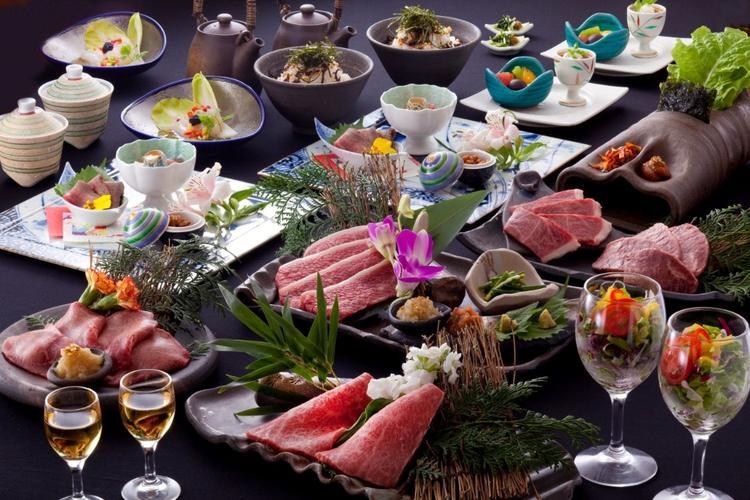 焼肉と韓国料理の融合したコース料理