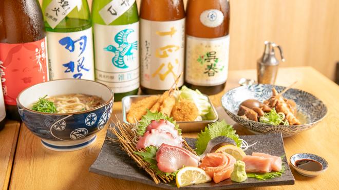 料理によく合う日本酒・焼酎も揃います◎