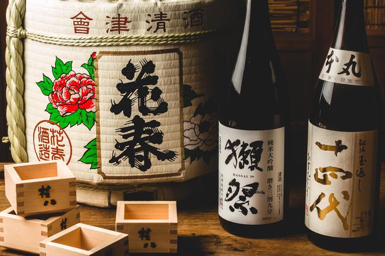 日本酒も多数取り揃えております。