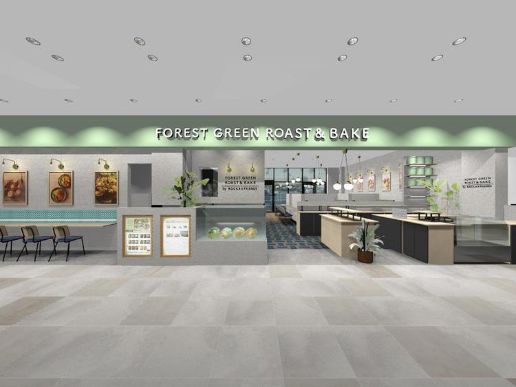 森をイメージした店舗デザイン