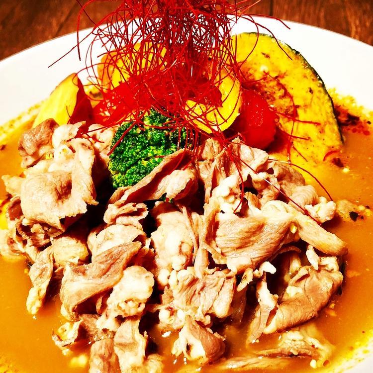 野菜とラムしゃぶのスープカレー