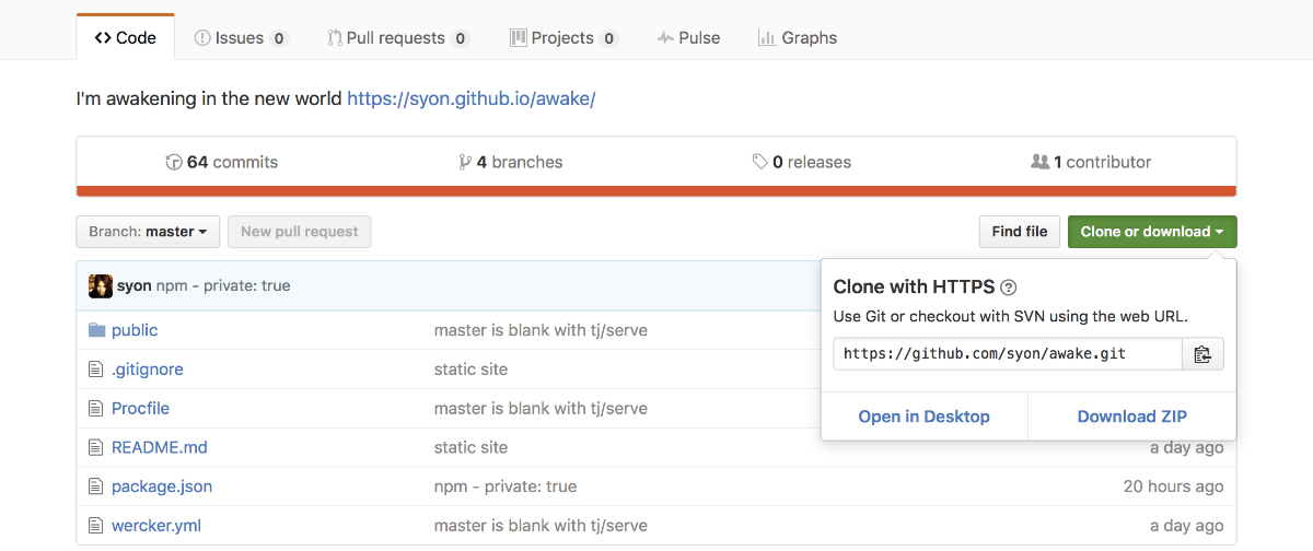 Download zip file from GitHub site