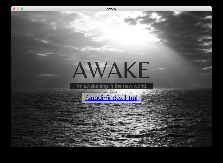 awake-electron-home