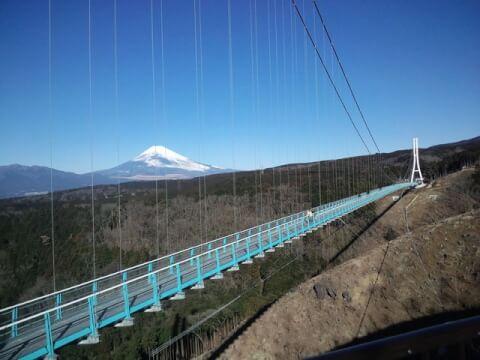 三島スカイウォークから見た富士山