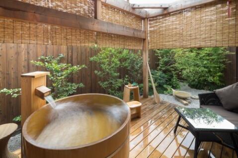 京都 旅館 宿泊 七十七 二条邸 お風呂