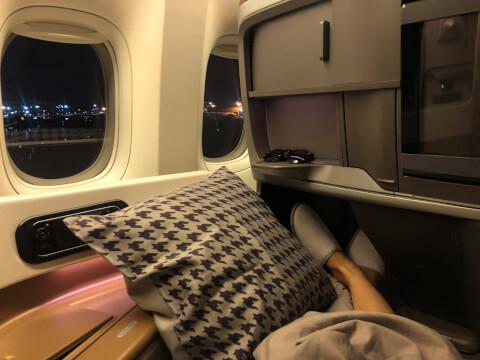 シンガポール航空 B777-300ER機内