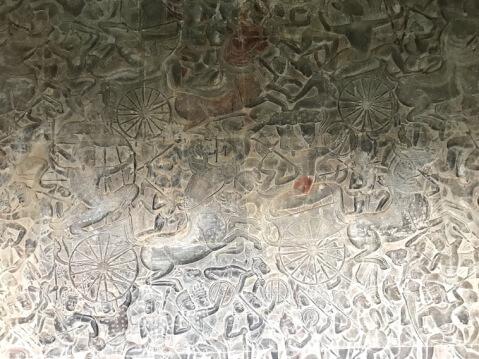 アンコールワット内の壁画