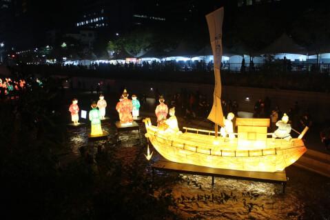 清渓川での催し物