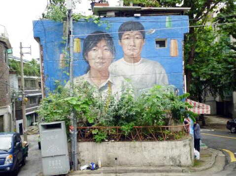 路上美術館(梨花洞:イファドン):一般の家の壁に描かれたアート