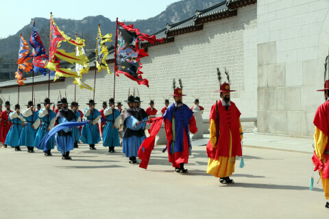 光化門前の儀式