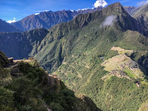 ワイナピチュ山頂から望む景色