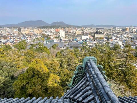 松江城から望む景観