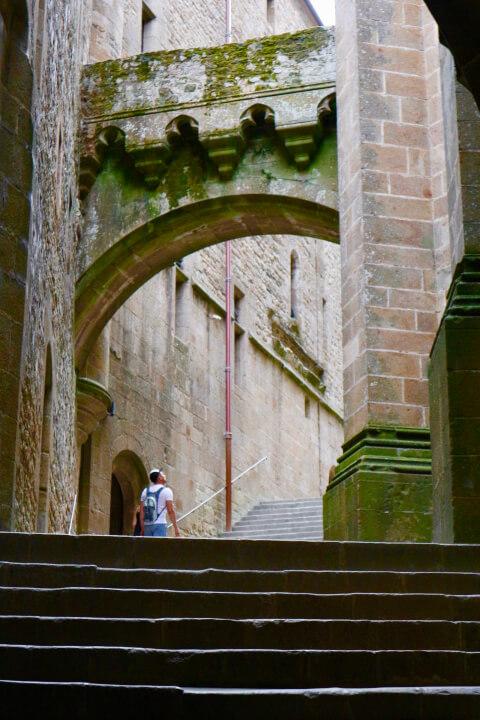 モンサンミッシェル修道院-大階段