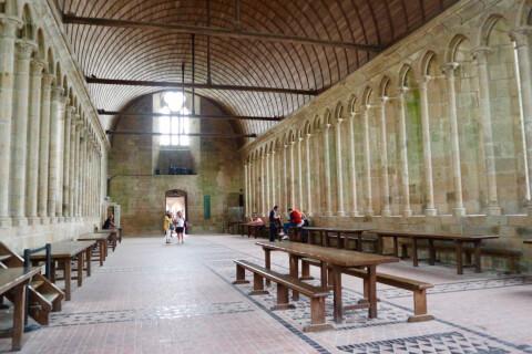 モンサンミッシェル修道院-食事室
