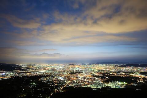 Nソウルタワー(エンソウルタウォ:N서울타워)からの夜景