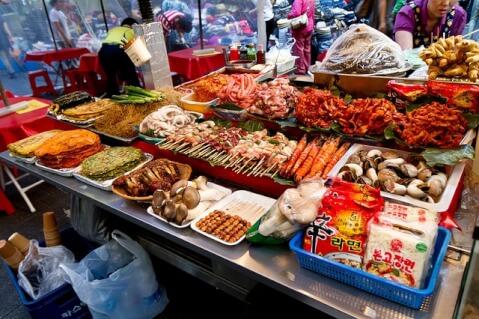 南大門市場(ナンデムンシジャン)の食材
