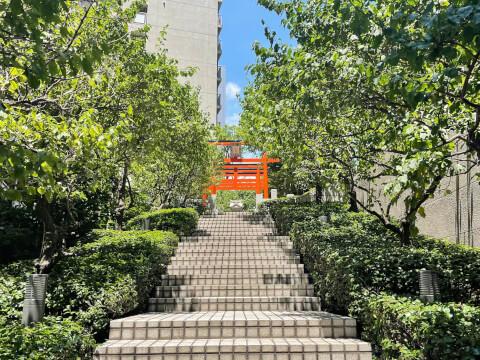 銀世界稲荷神社の鳥居
