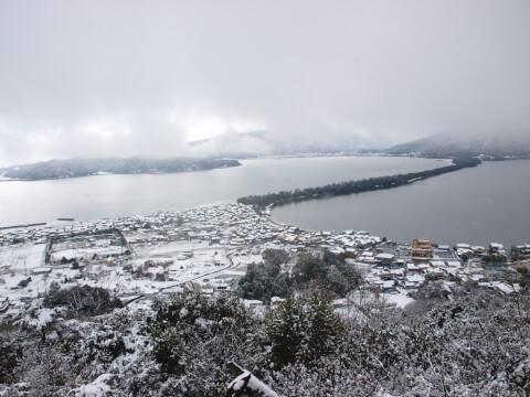 天橋立雪景色