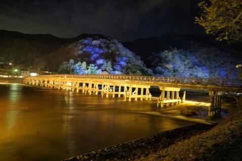 嵐山渡月橋ライト