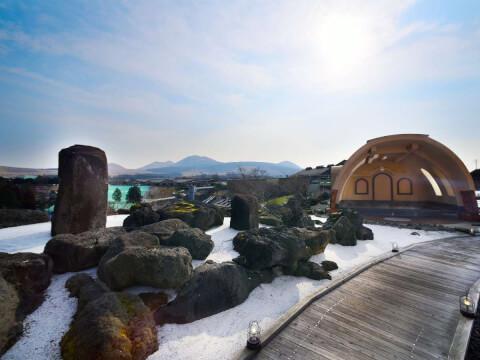 阿蘇健康火山温泉の露天風呂