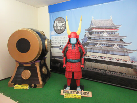 熱海城の日本城郭資料館の撮影スポット