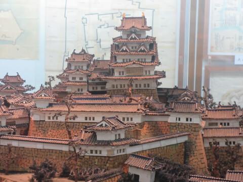 熱海城にある城の模型