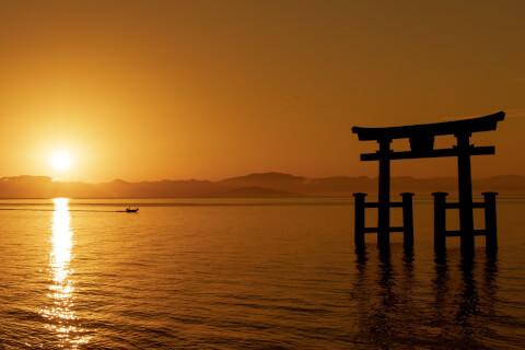 日本 絶景 滋賀 琵琶湖 白髭神社